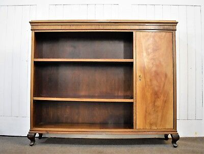 Antique vintage large bookcase with cupboard