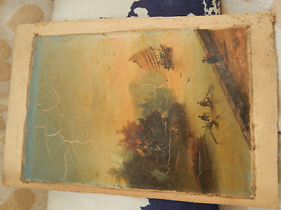 Antique Oil Painting Japanese/china