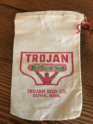 Vintage NOS Pioneer Trojan Hybrid Seed Corn Sample Sack Bag Co Olivia Minnesota