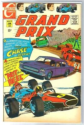 GRAND PRIX #29 The Chase is Death! Charlton Comic Book ~ FN
