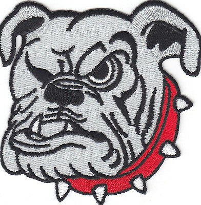 DOGS - ENGLISH BULLDOG - MASCOT - PETS  - Iron On Embroidered Patch