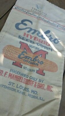 Vintage Ratscat Bag EMBRO Seed Corn Bag Vintage Kitchen Vintage Advertising
