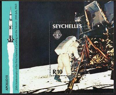 Seychelles MNH 1989 20th Ann of the First Manned Landing on the Moon M/S
