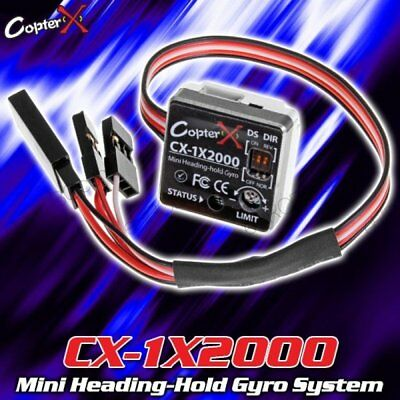 CopterX CX-1X2000 mini Heading-Hold Gyro System RC Flybar Helicopter head lock