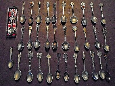 30+ Older Souvenir Spoons Silver Holland New York Virginia Texas United Nations