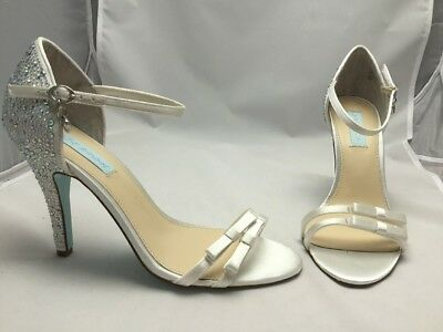 Details about  /Blue by Betsey Johnson Tee ~Ivory Fab~ Evening Sandals Womens Shoes 10 M NEW NIB