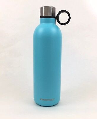 STARBUCKS Stainless Steel Aqua BLUE WATER BOTTLE 22 FL OZ New 2017
