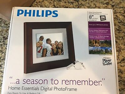 """Philips Home Essentials LCD Digital PhotoFrame 8"""" SPF3480T/G7 / Brand NEW in Box"""