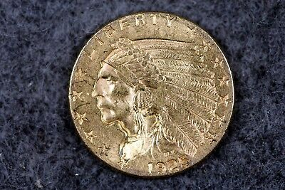 Estate Find 1925 - 2 1/2 Dollars Indian Head Gold!!!! #H2257
