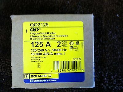 SQD Square D 125 Amp 2 Pole Brand New QO2125 NEW IN THE BOX