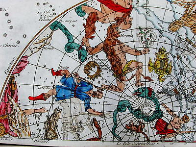 Constellations Northern skies zodiac Leo Orion Cancer Hercules Hydra 1739 charts