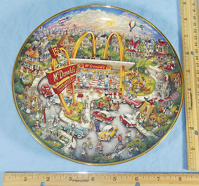 McDONALD'S Golden Moments Limited Edition Porcelain Plate with Speedee Hamburger