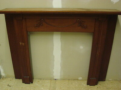 Antique Late 1800's Salvaged Ornate Fireplace Half Mantel Ornate Design A