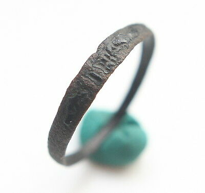 Ancient Medieval Religious Finger Ring I.H.S. (AVG01)