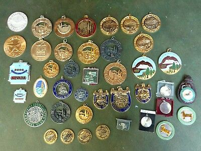 Dog Show Medals. Calif. Texas. Lot of 40. Shasta County. Contra Costa. Others.