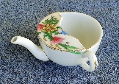 Antique China Infant Or Invalid Cup Feeder With Spout
