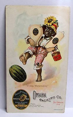 """Black Americana 1900 OMAHA PACKING CO. Price List booklet """"G'Way Watermelon"""""""