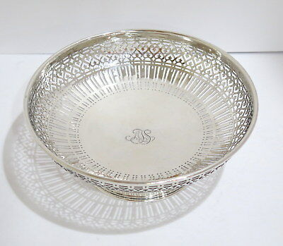 8.75 in - Sterling Silver Tiffany & Co. Antique Openwork Serving Bowl
