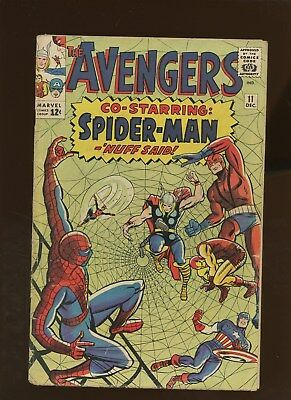 Avengers 11 GD/VG 3.0 * 1 Book * 1st Spider-Man Robot! Kirby Cover! Lee & Heck!