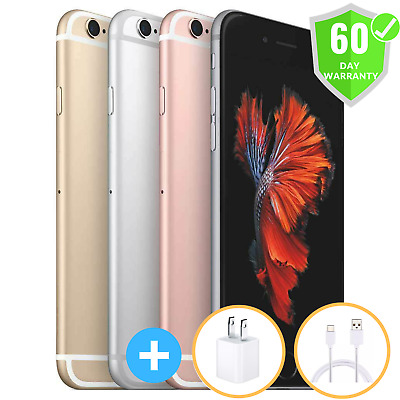 Apple Iphone 6S 16Gb 64Gb 128Gb (At&t) Smartphone Gray Silver Gold Rose