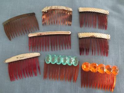 Vintage 50's Ladies Decorative Hair Comb Collection
