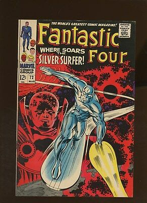 Fantastic Four 72 VF 7.5 * 1 Book * Silver Surfer!!! Stan Lee!!! Jack Kirby!!!