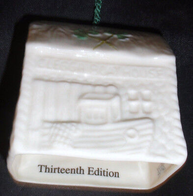 Belleek /Clegga Boathouse Christmas Ornament-2000-Edition/Collector's Condition