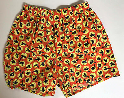 Vintage Men's Halloween Witches Boxer Shorts Sz Small Dead Stock Trick or Treat