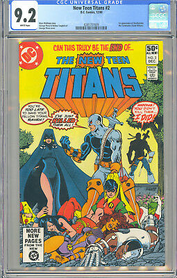 New Teen Titans #2 Cgc 9.2 White 1St Deathstroke The Terminator Dc Comics 1980