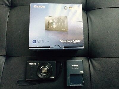 Canon Powershot S100 12.1MP 5x Wide Angle Optical Zoom Digital Camera (Black)