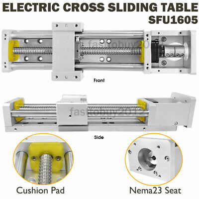 Electric Cross Slide Linear Guide Stage RM1605 L200mm CNC Sliding Table XYZ Axis