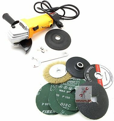 """4-1/2"""" ANGLE GRINDER KiT 11,000 RPM Multi Function Sanding,Cutting & Grinding"""