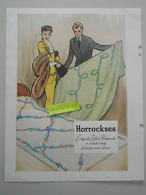 CHENILLE Bedspread by Horrockses,full page vintage color paper advertisement