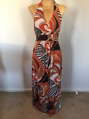 Ladies Halter Neck Maxi Dress Size 14