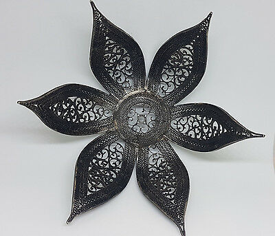 Rare Antique Chinese Export Solid Silver Filigree Bowl 103 G.