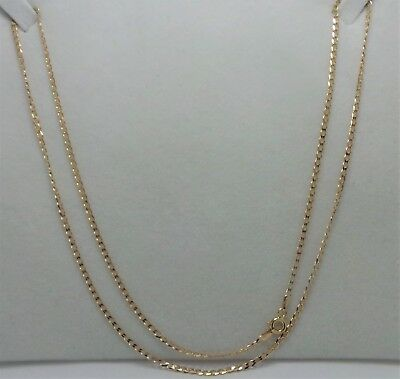 9ct YELLOW GOLD OPEN CURB LINK CHAIN NECKLACE  - 54 CM