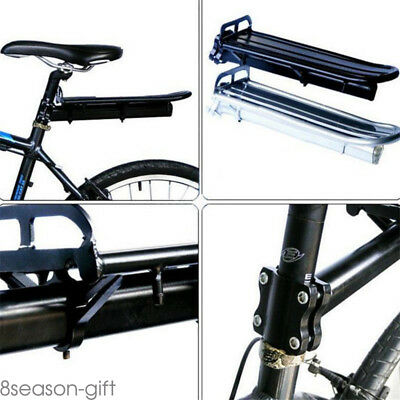 Mount Bike Bicycle Rear Rack Seat Post Mount Pannier Luggage Carrier Aluminum HX