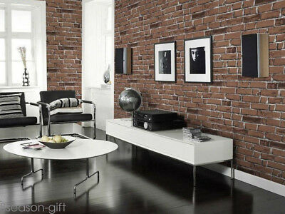 3D Brick Stone Wallpaper Roll Mural Modern Retro Wall Background Home Decor GIFT