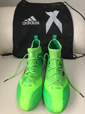 Adidas Ace 17.1 Green Primeknit SG Football Boots Size 8.5 Great Condition