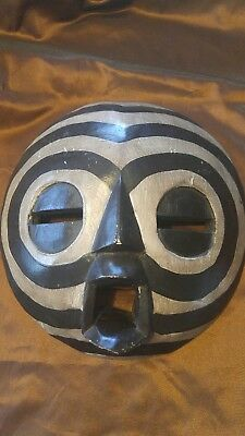 Wooden Hand Carved Mask from Ghana