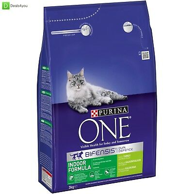 Purina ONE Adult Indoor Formula Dry Complete Cat Food, 3kg