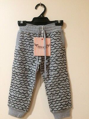 Paper Wings ~^~Shark Print~^~ Track Pants Trackies - To Suit Size 2-3 - BNWT