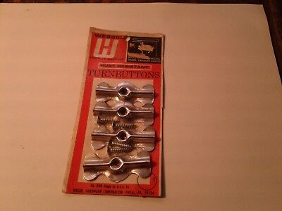 4 bow tie turn latches buttons cupboard cabinet vintage old stock