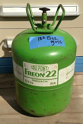 Dupont R22 Refrigerant Freon Partial 30 lb Tank with 18 lbs 15 oz gross weight