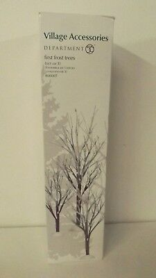 Dept 56 Village Accessories First Frost Trees Set of 3 800007  New Mint in Box