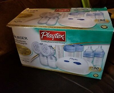 PLAYTEX Nurser Deluxe Double Electric Breast Pump with Black Nylon Tote Bag