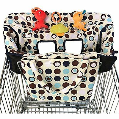 2 In 1 Baby Shopping Cart Cover High Chair Polyester Fabric Polka Dot Portable