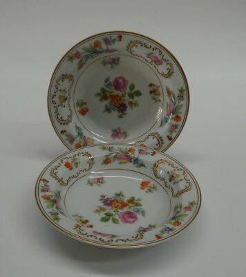 Noritake China Dresalda #4727 Two Rimmed Berry Bowl 5 5/8""