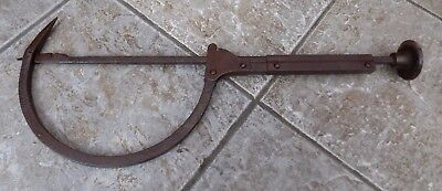 Rare Antique Victorian Wrought Iron Patented Thatching Or Thatchers Needle