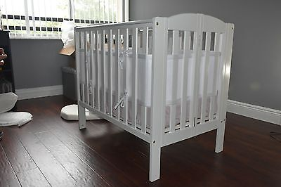 Breathable Crib Bumper White, Mesh Crib Liner